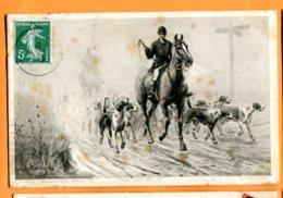 SPR571, Chasse à Courre, Pferd, Horse, Cheval, Circulée 1909 - Caza