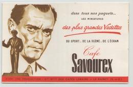 "Buvard "" Café Savourex "" ( Tache, Pliure, 20 X 13,5 Cm ) - Café & Thé"
