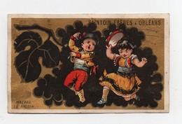 CHROMO Dorée Saintoin Frères Orléans Couple Enfants Fille Garçon Danse Danseurs Espagne Le Raisin Malaga - Unclassified