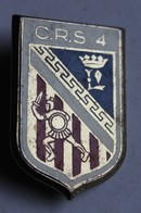 Insigne CRS4 Compagnie Républicaine De Sécurité Police Nationale Drago Paris - Police & Gendarmerie