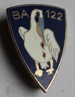 Insigne Militaire émaillé BA 122 Cigogne Drago Paris Base Aérienne 122 Chartres Champhol Armée De L'air - Forze Aeree