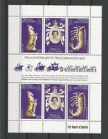 Tristan Da Cunha 1978 25th Anniv. Of The Coronation Sheet Y.T. F 233 ** - Tristan Da Cunha