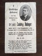 Sterbebild Wk1 Bidprentje Avis Décès Deathcard KUK Landesschützen Regt. 3 TYSKOWICZE Aus Linz - 1914-18