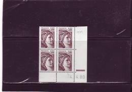 N° 1979 - 3F Sabine De GANDON - 6° Tirage Du 26.3.80 Au 4.4.80 - Dernier Jour  (RE) - - 1980-1989