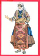 CP-ARMÉNIE- Femme En Costume Traditionnel Arménien *Inédite  * 2 SCANS - Arménie