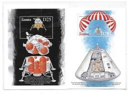 Gambia 1999 Apollo II Moon Landing 2 S/S MNH - Gambie (1965-...)