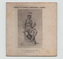 """Image Tombeau Du Général Lamoricière à Nantes """" Le Courage Militaire Par Dubois """" - Documents"""