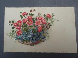 Cpa Bouquet De Fleurs Fête De St-Nicolas - Saint-Nicolas