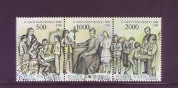 Vaticano 1988 - San Giovanni Bosco, Trittico Usato - Vaticano