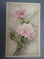 Cpa Bouquet D'oeillets Fête De Ste-Catherine  1946 - Sainte-Catherine