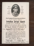 Sterbebild Wk1 Bidprentje Avis Décès Deathcard IR27 Rumänien 1916 - 1914-18