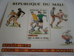 Miniature Sheet Perf Spain 82 Football World Cup - Mali (1959-...)