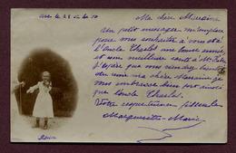 """ARC-EN-BARROIS  (52) : """" UNE JEUNE VIOLONISTE """"  1900  Carte Photo - Arc En Barrois"""