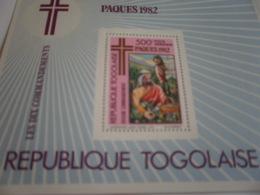 Miniature Sheet Perf Easter 1983 - Togo (1960-...)