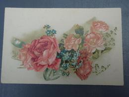 Cpa  Roses - Heureux Anniversaire - Autres