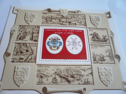 Miniature Sheet Perf Knights Of Malta - Seychelles (1976-...)