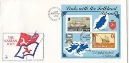 GOOD ISLE Of MAN FDC 1984 - The Karran Fleet - Isle Of Man