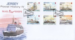 GOOD JERSEY FDC 2010 - Mail Ships - Jersey