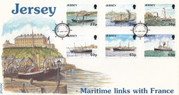 GOOD JERSEY FDC 2001 - Maritime Links With France - Jersey