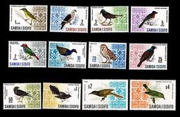 SAMOA • 1967 • Birds • Set Of 12:• MNH:• SG 280-289b - Samoa