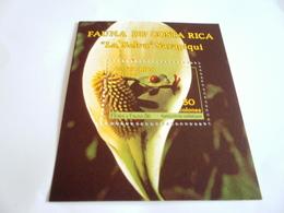Miniature Sheet Perf Flora And Fauna 86 - Costa Rica