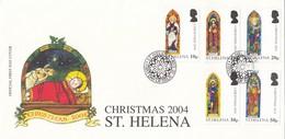 GOOD St HELENA FDC 2004 - Christmas - Saint Helena Island