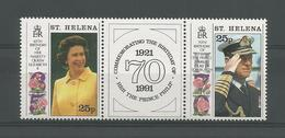 St Helena 1991 Queen's 65th Birthday Y.T. 549/550 ** - Sainte-Hélène