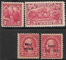 US  1927-8   Sc#643-4, 646-7  4 Diff MLH    2016 Scott Value $9.30 - Nuevos