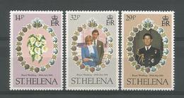 St Helena 1981 Royal Wedding  Y.T. 340/342 ** - Saint Helena Island