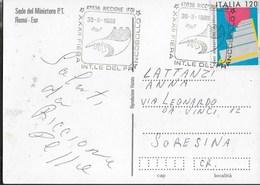 ANNULLO SPECIALE - RICCIONE - 30.08.1980 - XXXII FIERA INT.LE DEL FRANCOBOLLO - SU CARTOLINA ROMA - Philatelic Exhibitions