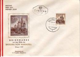 BM657 Österreich FDC Ersttag ANK 1115, Mariazell Kleinformat, Tagesstempel Salzburg 1.2.1960 - FDC