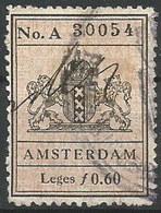 """Niederlande: Gebührenmarke """"Amsterdam"""" Leges 0,60 F (Forint) #E05 - Netherlands"""