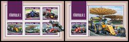 GUINEA BISSAU 2018 - Formula 1 - YT 7442-6 + BF1392; CV=38 € - Cars