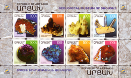 Nagorno Karabakh 2018 Geological Museum Of Shoushi Minerals Minisheet MNH - Minerals