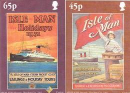 GOOD ISLE Of MAN Postcards With Original Stamp 2000 - Holidai Nostalgia - Isle Of Man