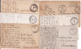 6 CARTES VUES  POSTES MILITAIRES BELGES EN ALLEMAGNE 1919 A 1925 BPS PMB - Poststempels/ Marcofilie