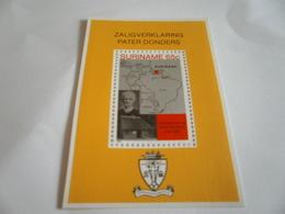 Miniature Sheet Perf Pater Donders - Surinam