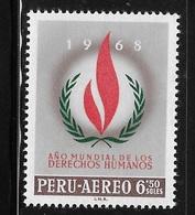 Peru 1968 International Human Rights Year MNH - Peru