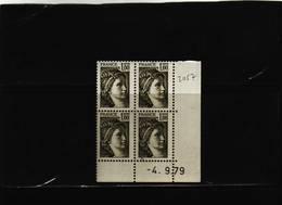N° 2057- 1,00F Sabine De GANDON - 1° Tirage Du 29.8.79 Au 4.9.79 - 4.09.79 - - 1970-1979