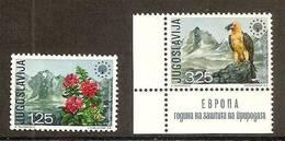 1970 Yugoslavia Jugoslavia PROTEZIONE NATURA  NATURE Serie Di 2 Valori MNH** - Protezione Dell'Ambiente & Clima