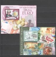 R245 2012 GUINE GUINEA-BISSAU FAUNA MONEY COINS 10TH ANNIVERSARY OF THE EURO 2BL MNH - Coins