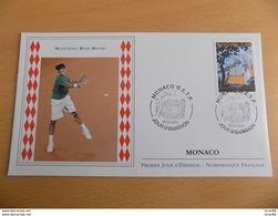 FDC MONACO 2014 : Monté Carlo Rolex Masters De Tennis (Timbre De 1.10 Euro) - FDC