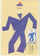 Carte-Maximum FRANCE N° Yvert 2868 (Fernand LEGER) Obl Sp Ill Biot (Ed Castelet) - 1990-99