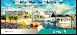 (4336A)Our Sites In Unesco Is World Heritage List Waterfall Rock Tomb Hierapolis Nexropol Leodikeia Souvenir Sheet MNH** - Unused Stamps