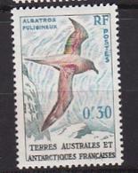 Timbre T.A.A.F. N° 12** Albatros Fuligineux - Terres Australes Et Antarctiques Françaises (TAAF)