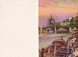 Calendrier De Poche - 1955. PARIS. La Seine Et Ses Péniches, Notre Dame. - Calendriers