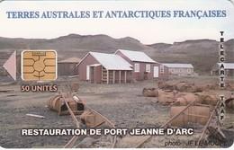 Télécarte TAAF FSAT - Port Jeanne D'Arc (avec Logo) - TAAF - Franse Zuidpoolgewesten