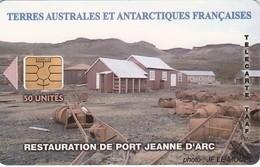 Télécarte TAAF FSAT - Port Jeanne D'Arc (avec Logo) - TAAF - French Southern And Antarctic Lands