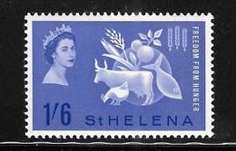St Helena 1963 Freedom From Hunger Mint Hinged - Saint Helena Island