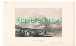 45 Stahlstich Grimming Schloss Burg  Wanderer 1840 !! - Estampes
